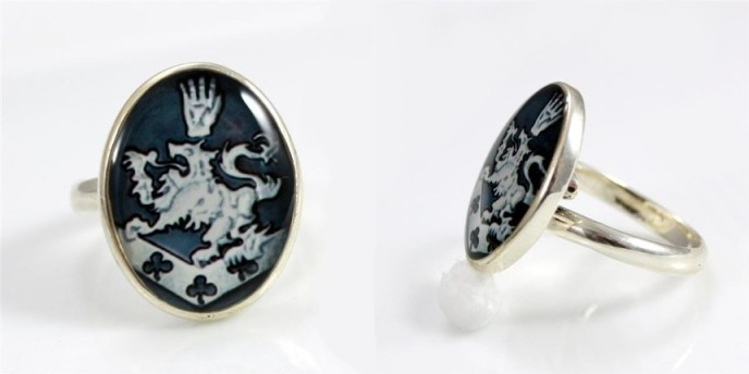 Cullen Family Crest Solid Sterling Siver .925 Ring